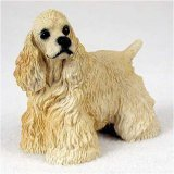 Cocker Spaniel, Blonde Original Dog Figurine (Cocker Spaniel Sculpture)