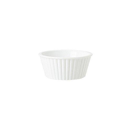 G.E.T. White SAN Plastic 2 Oz Fluted Ramekin