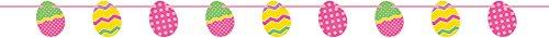 6.45ft Paper Cutout Easter Egg Garland