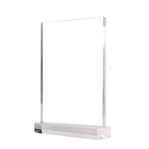 New Acrylic Transparent Display Stand A5 Photo Frame Acrylic Cover Office Sign Holder Table Menu Card Holder Price Tag Display for Restaurant Hotel Coffee Shop by iBelly
