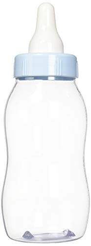 amscan Give Aways, Baby Bottle Bank, Party Supplies, Blue, 11 1/8in x 4 1/4in   -