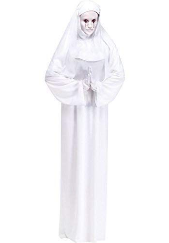 Ladies Full Length Halloween White Ghost Scary Mary