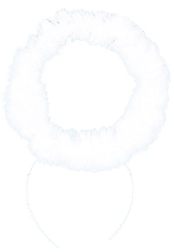 Rubie's Costume Co White Marabou Halo Costume (Angel Halo Costume)