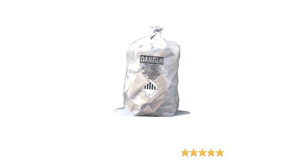 Asbestos Disposal Bags 2 Red 2 Clear 900 x 1200mm Heavy Duty 25kg