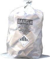 Clear Asbestos Bags 33 x 50 x 6 Mil 75/roll by The Safety House Clear Asbestos Bags