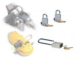 (ROADMASTER INC 303 TWO PADLOCKS FOR ROADMASTER QUICK-DISCONNECTS AND ONE PADLOCK FOR A TOW BAR COUP)