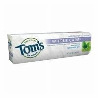 Tom's of Maine Whole Care Fluoride Toothpaste, 4.7-Ounce (Pack of 2)