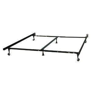 Milliard Heavy Duty Adjustable Full Queen Metal Deluxe Bed Frame With Center Support And Rug