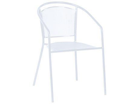 (Alfresco Home 26-1317 Martini Cafe Stackable Dining Chair Bianca, Set of 4)
