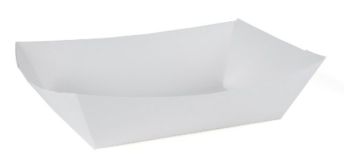 Southern Champion Tray 0553 #100 Paperboard Food Tray / Boat / Bowl, 1 lb Capacity, White (Pack of 1000)