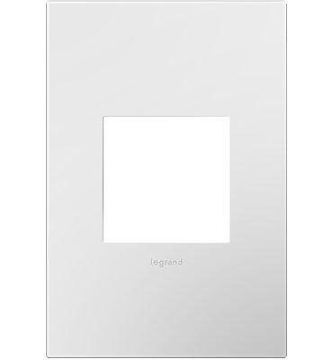 Legrand Adorne Gloss White on White Backplate, 1-Gang Wall Plate AWP1G2WHW10 - Blank Filler Module