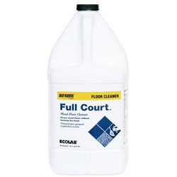 Zoom Supply Ecolab 61027049 Full Court Wood Gym Floor Cleaner, Professional-Grade Ecolab FullCourt Gym Floor Cleaner -- Restores & Protects $$$ Expensive Wood Floors Longer