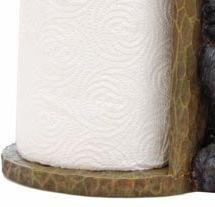 14 Willie Black Bear Paper Towel Holder Rack for Free Standing on Counter or Table Great Kitchen Decor