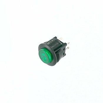 ミヤマ電器 照光式押しボタンスイッチ 緑 【DS664KマルLSKミドリ】