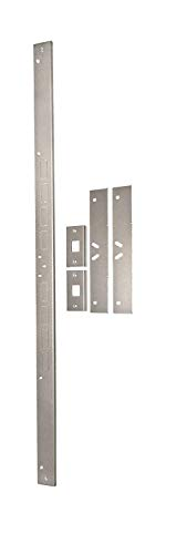 Max Door - Door Armor MAX - Complete Door Reinforcement Set For Jamb, Frame, Strike Plate - DIY Home Door Security - Satin Nickel