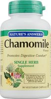 Nature's Answer Chamomile Flower -- 90 Vegetarian Capsules