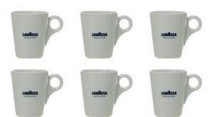 6 X Lavazza Coffee/Cappuccino/Latte Mugs-Capacity 10oz ()