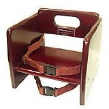Winco CHB-703 Wooden Booster Seat, Mahogony