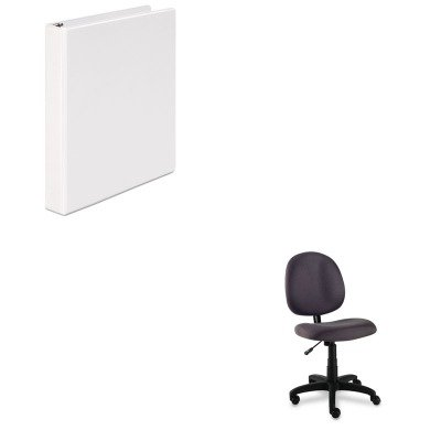 KITALEVT48FA40BUNV20962 - Value Kit - Best Essentia Series Swivel Task Chair (ALEVT48FA40B) and Universal Round Ring Economy Vinyl View Binder (UNV20962)