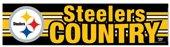 NFL Pittsburgh Steelers 69323091 Bumper Strip 3 x 12 Black