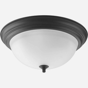 Progress Lighting P3926-80 3-Light Flush Mount with Etched Glass -