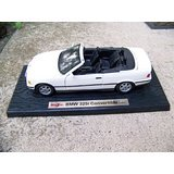 Maisto BMW 325i Convertible 1:18 Die Cast Special Edition White with Black Soft Top (Die Cast Car)