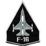 F-16 Fighting Falcon Usaf Air Force Jet Aircraft Applique Iron-on Patch S-617 Handmade Design From Thailand