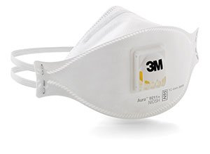 3M Aura Particulate Respirator w/ Cool Flow Valve - (120/Case) - R3-9211+