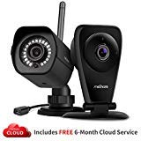 1080p HD Cloud Cams - Wireless Kid and Pet Monitoring Security Camera with Smart Motion Alerts, Night Vision and Cloud Recording -2 Pack