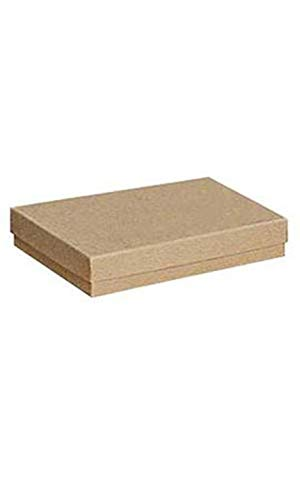 - Cotton Filled Kraft Jewelry Boxes - 5¼