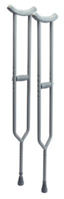 Lumex 3614A Bariatric Imperial Steel Crutches, Adult, Color Aluminum