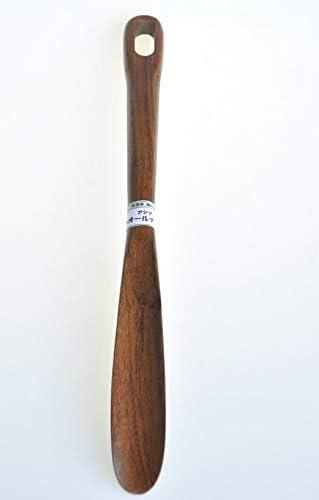 木製 使いやすい長さの靴べらM4 アジアンウォルナット製