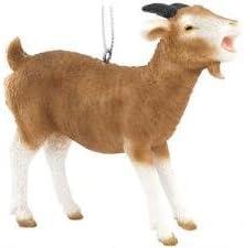 Brown Goat Animal Farm Billy Goat Christmas Tree Ornament