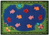 Joy Carpets Kid Essentials Inspirational Fishers of Men Area Rug, Multicolored, 5'4'' x 7'8'' by Joy Carpets