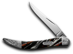 CASE XX Engraved Bolster Series Genuine Man In Black Corelon Toothpick Knives Review