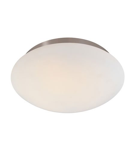 - Sonneman 4153.13, Mushroom Round Tall Flush Mount Ceiling Lighting, 2 Light, Satin Nickel