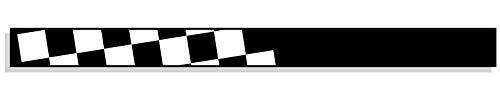 10 x 126 cm Fascia per Protezione Solare Fabbricazione Francese Colore: Nero Paralume a Scacchi Raceflag