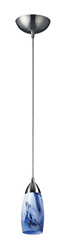 Elk milan 1 light pendant in satin nickel 110-1mt