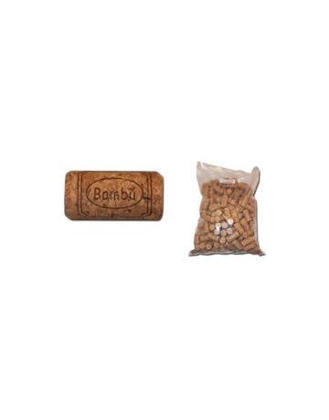 Tapones de corcho para embotellar vino (100 unidades)