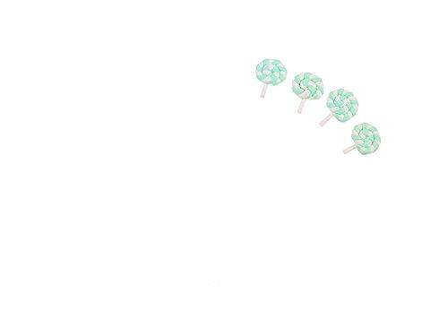 FenBuGu-JP ミニチュアレジンロリポップ置物置物ドールハウスクラフトフェアリーガーデンデコレーションミニプラントポットマイクロランドスケープ盆栽オーナメントDIYキッズおもちゃギフト(グリーン)
