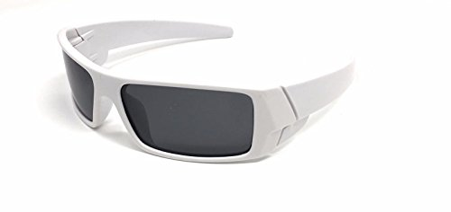White Mens Super Dark Polarized Wrap Around Gascan Sunglasses Driving Square - Italian Independent Sunglasses