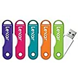 Lexar(R) JumpDrive(R) TwistTurn USB 2.0 Flash Drive, 32GB, Assorted Colors