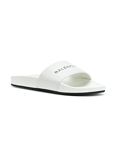Balenciaga Damen 500573WAL009061 Weiss Leder Sandalen