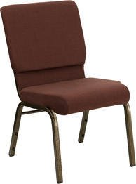 HERCULES Series 18.5'' Wide Stacking Church Chair with 4.25'