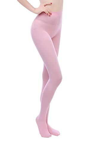 Tights Pink Opaque (EVERSWE Women 80 Den Soft Opaque Tights, Women's Tights (L/XL, Pink))