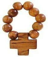 Olive Wood Finger Rosary (Set of Three)