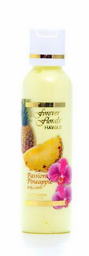 Forever Scented Body Lotion (Passion Pineapple Body Lotion 2 bottles 4oz Each Forever Florals Hawaii 1 Tube of Noni Coco Mango Conditioning Shampoo 1 Tube of White Ginger Conditioning Shampoo.)
