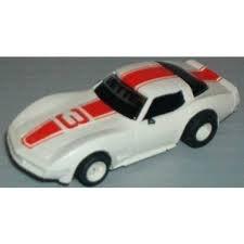 Corvette Slot - TYCO HO Scale 440x2 Red and White Corvette Slot Car (15007B)