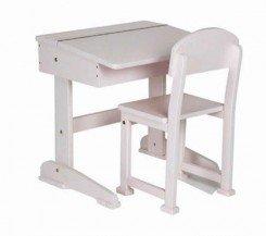 Saplings Kids/Children's Desk & Chair in White: Amazon.co ...