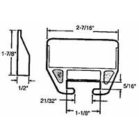Slide-Co 221376 Drawer Track Guide & Glides (Bassett Furnitures)